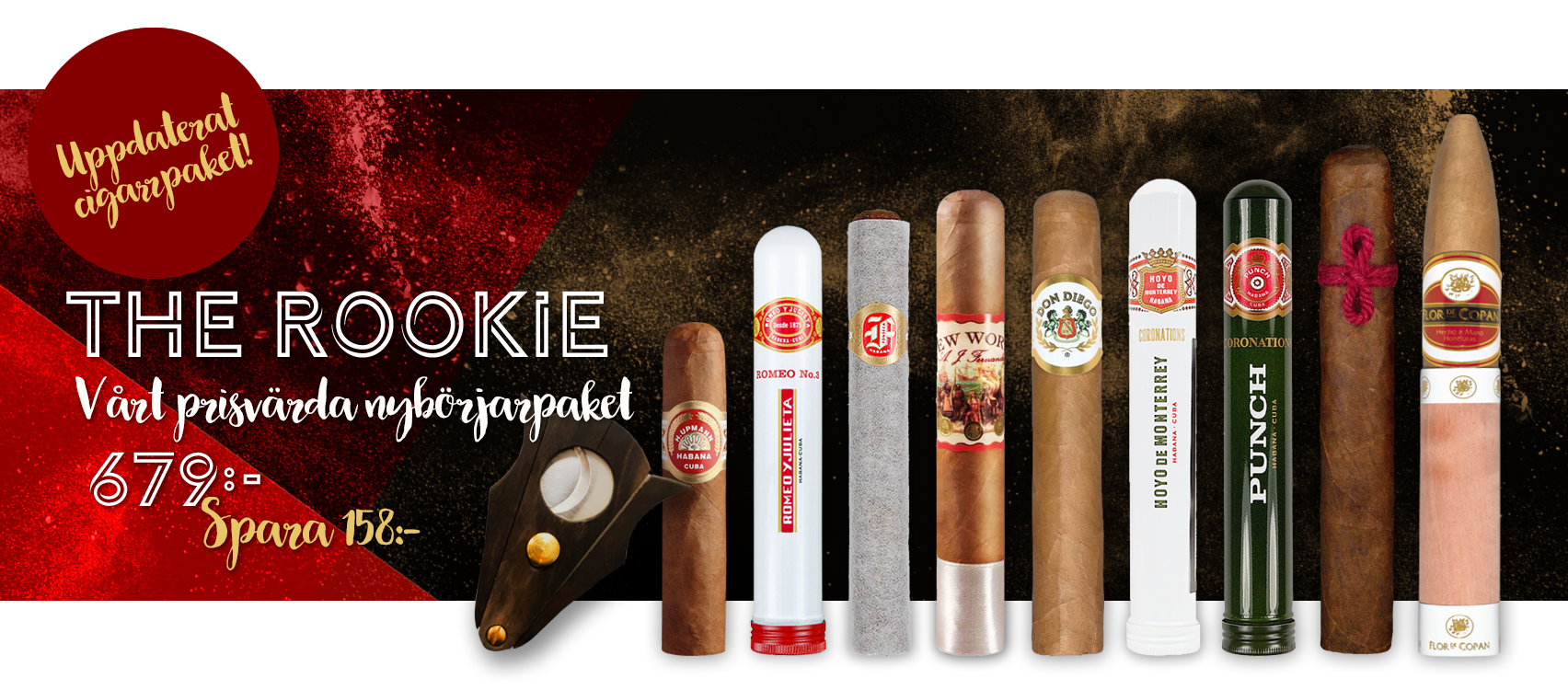 Cigarrpaket - The Rookie - Cigarrer på nätet